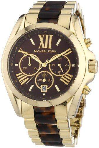 Michael Kors Damen-Armbanduhr XL Bradshaw Chronograph Quarz verschiedene Materialien MK5696