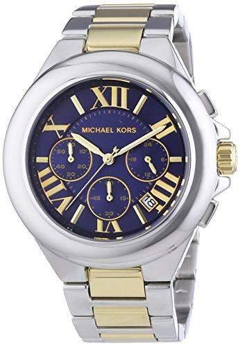 Michael Kors Damen-Armbanduhr XL Chronograph Quarz Edelstahl MK5758