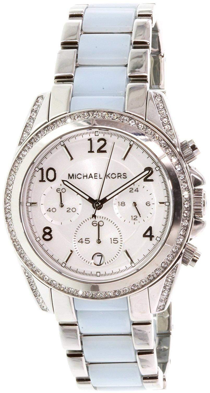 Micheal Kors Damen-Armbanduhr Chronograph Quarz Edelstahl MK6137