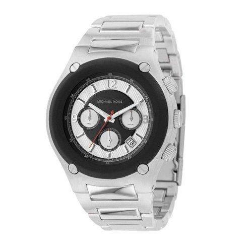 Michael Kors Herren-Armbanduhr XL Chronograph Quarz Edelstahl beschichtet MK8101