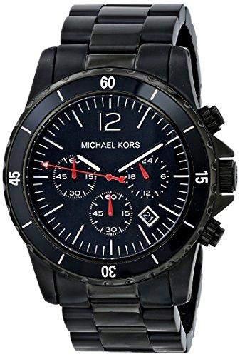 Michael Kors Herren-Armbanduhr XL Fashion Chronograph Quarz Edelstahl MK8161