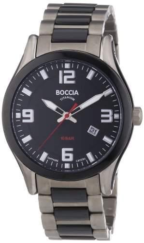 Boccia Herren-Armbanduhr XL Analog Quarz Titan 3555-02