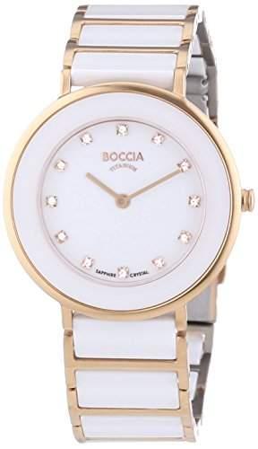 Boccia Damen-Armbanduhr XS Analog Quarz Keramik 3209-04