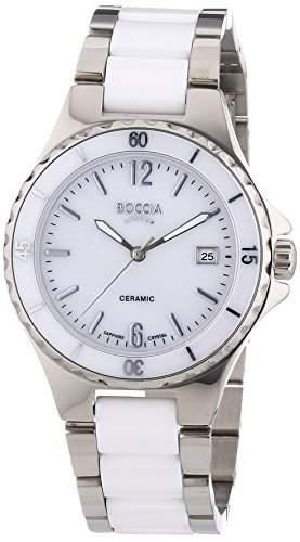 Boccia Damen-Armbanduhr Analog Quarz Keramik 3215-01