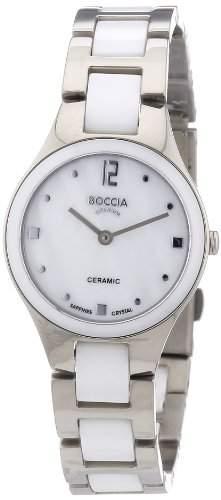 Boccia Damen-Armbanduhr XS Ceramic Analog Quarz verschiedene Materialien 3221-01