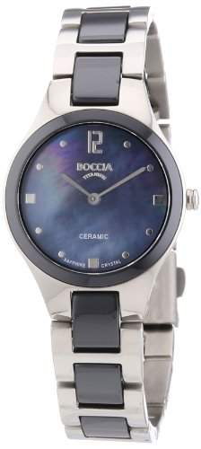 Boccia Damen-Armbanduhr XS Analog Quarz verschiedene Materialien 3221-02