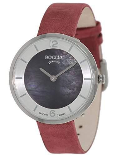Boccia Damen-Armbanduhr Analog Quarz Leder 3244-02