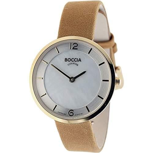 Boccia Damen-Armbanduhr Analog Quarz Leder 3244-03