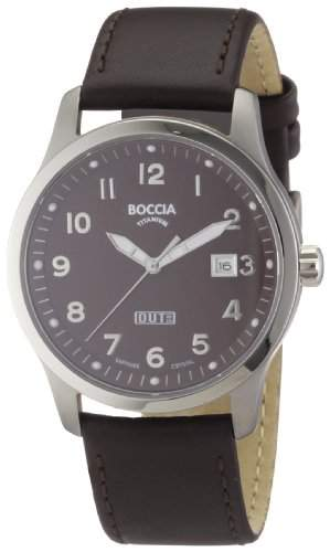Boccia Herren-Armbanduhr Leder 3530-02