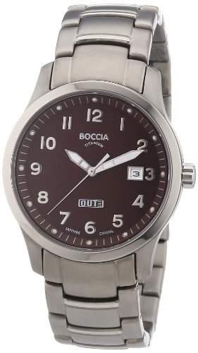 Boccia Herren-Armbanduhr XL Analog Quarz Titan 3530-08