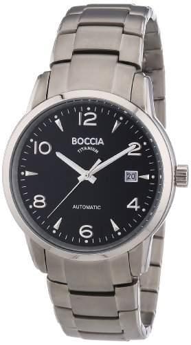 Boccia Herren-Armbanduhr XL Analog Automatik Titan 3574-04