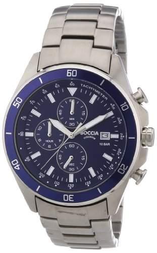 Boccia Herren-Armbanduhr XL Chronograph Quarz Titan 3762-02
