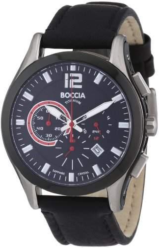 Boccia Herren-Armbanduhr Mit Lederarmband Sport 3771-01