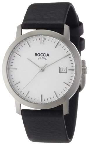 Boccia Herren-Armbanduhr Leder 510-93