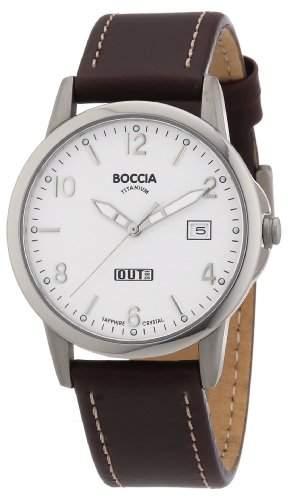 Boccia Herren-Armbanduhr Mit Lederarmband Sport 604-01