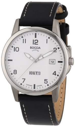 Boccia Herren-Armbanduhr Leder 604-02