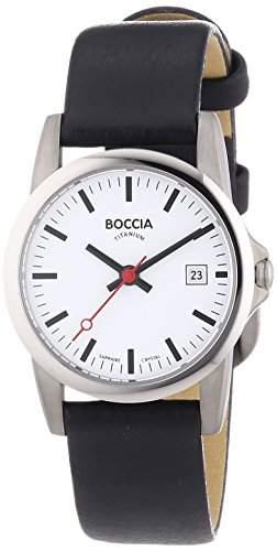 Boccia Damen-Armbanduhr XS Analog Quarz Leder 3080-07