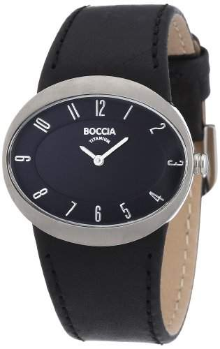 Boccia Damen-Armbanduhr Leder 3165-06