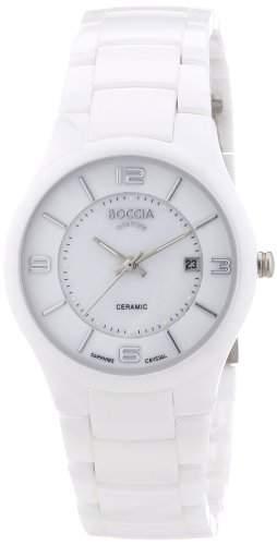 Boccia Dress Titan Keramik Quarz Damen Uhr Weiss 3196-01