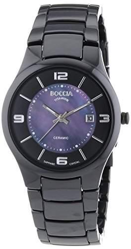 Boccia Keramic Titan Damen Uhr Schwarz 3196-03