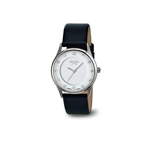 Boccia Damen-Armbanduhr XS Analog Quarz Leder 3227-01