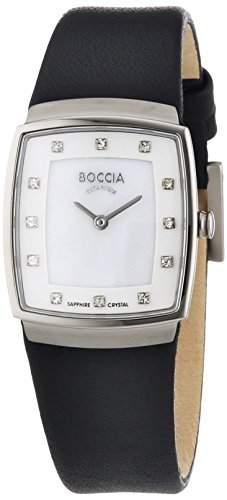 Boccia Damen-Armbanduhr XS Titanium Analog Quarz Leder 3237-01