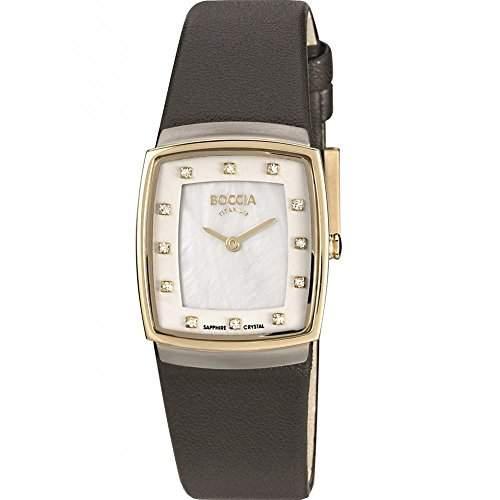 Boccia Damen-Armbanduhr XS Titanium Analog Quarz Leder 3237-02