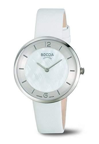 Boccia Damen-Armbanduhr Analog Quarz Leder 3244-01