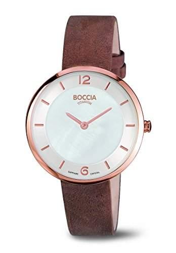 Boccia Damen-Armbanduhr Analog Quarz Leder 3244-04