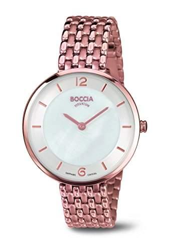 Boccia Damen-Armbanduhr Analog Quarz Titan 3244-06