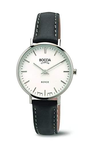 Boccia Damen-Armbanduhr Analog Quarz Leder 3246-01