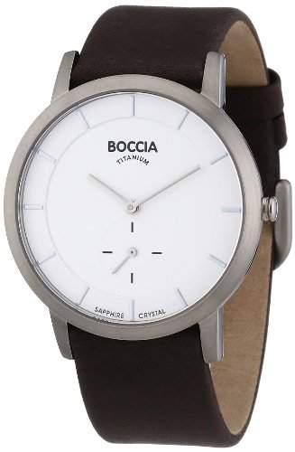 Boccia Herren-Armbanduhr Mit Lederarmband Trend 3540-01