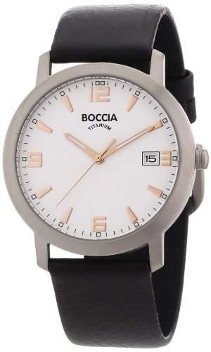 Boccia Herren-Armbanduhr Leder 3544-02