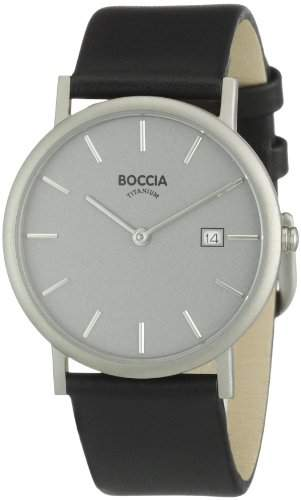 Boccia Herren-Armbanduhr Leder 3547-01