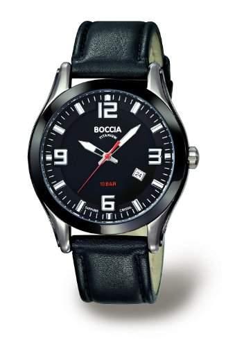 Boccia Herren-Armbanduhr Mit Lederarmband Sport 3555-01