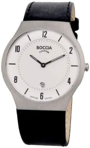 Boccia Herren-Armbanduhr XL Analog Leder 3559-01