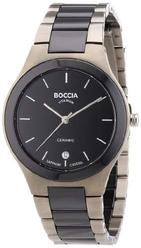 Boccia Herren-Armbanduhr XL Ceramic Analog Quarz Keramik 3564-02