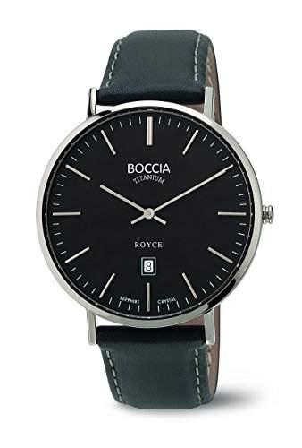 Boccia Herren-Armbanduhr Analog Quarz Leder 3589-02