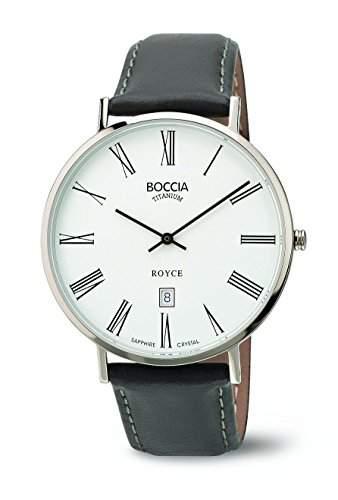 Boccia Herren-Armbanduhr Analog Quarz Leder 3589-03