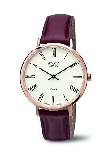 Boccia Damen-Armbanduhr Analog Quarz Leder 3590-07