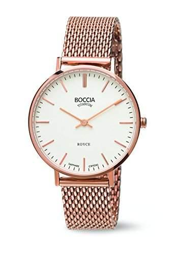 Boccia Damen-Armbanduhr Analog Quarz Edelstahl 3590-09
