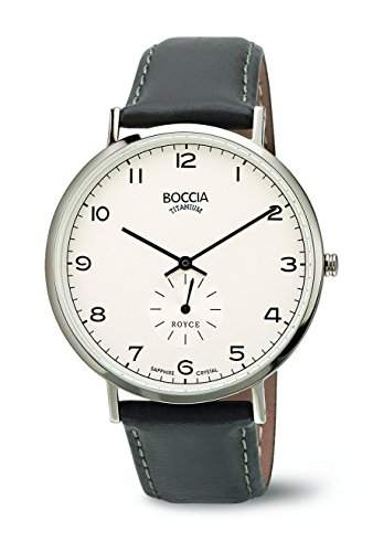 Boccia Herren-Armbanduhr Analog Quarz Leder 3592-01
