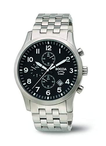 Boccia Herren-Armbanduhr Chronograph Quarz Titan 3755-02