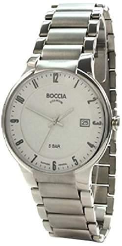 Boccia Herren-Armbanduhr XL Analog Quarz Titan 3576-02