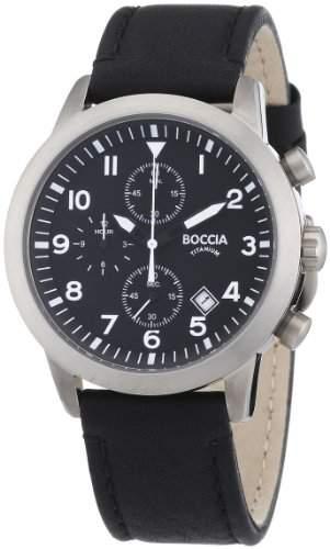 Boccia Herren-Armbanduhr Leder 3772-01