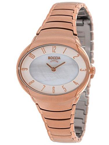 Boccia Damen Armbanduhr Analog Quarz Titan 3165 22