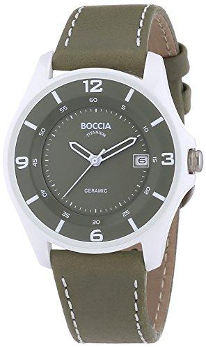 Boccia Analog Quarz Leder 3226 06