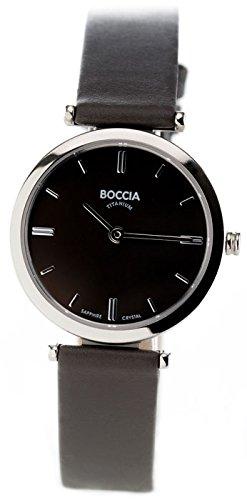 Boccia Analog Quarz Leder 3253 02