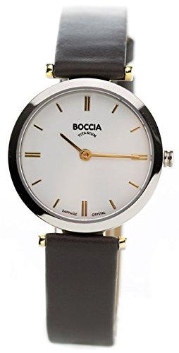 Boccia Analog Quarz Leder 3253 03