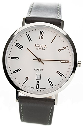 Boccia Analog Quarz Leder 3589 08